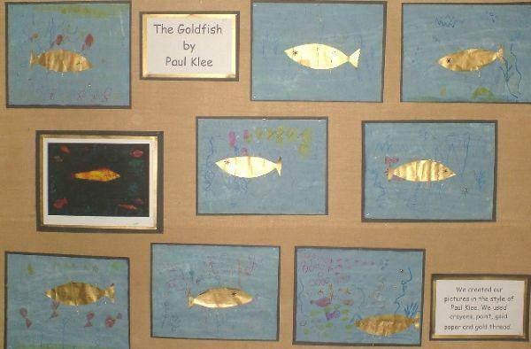 Goldfish in the Style of Paul Klee