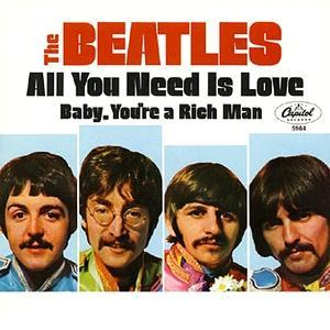 All You Need Is Love Beatles Single Cover