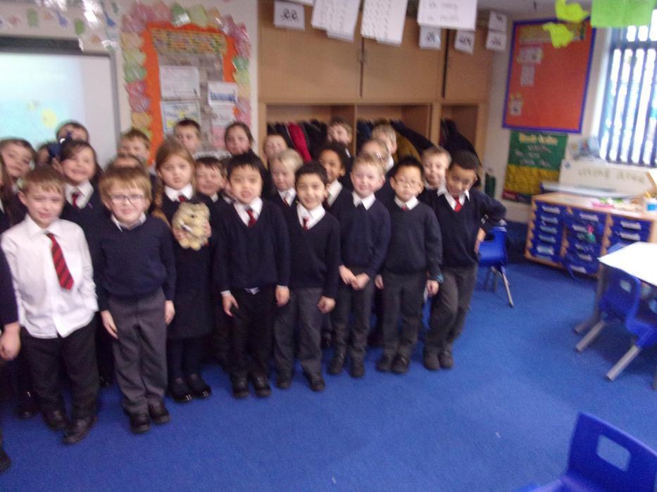 We won the attendance award. Yippee!!