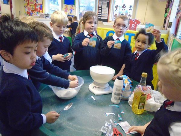 Making our own playdough