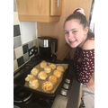 Making scones with Aimee (my daughter)