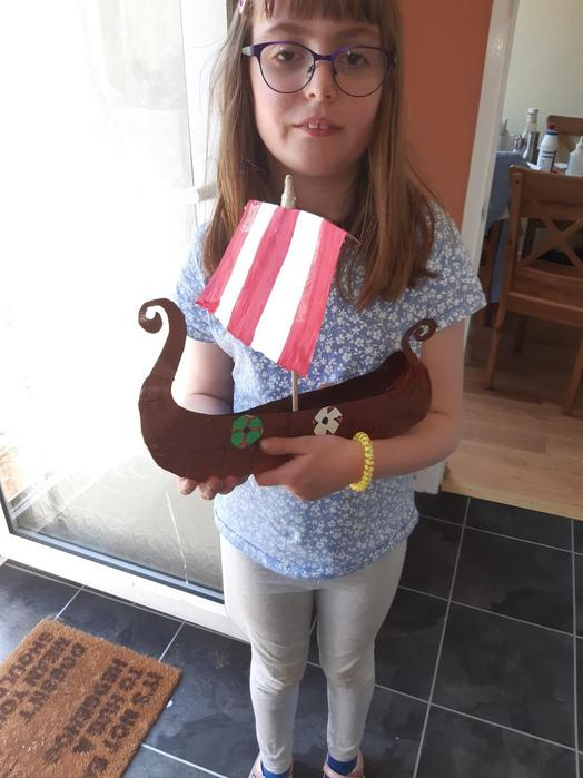 Harriet and her /viking Longboat