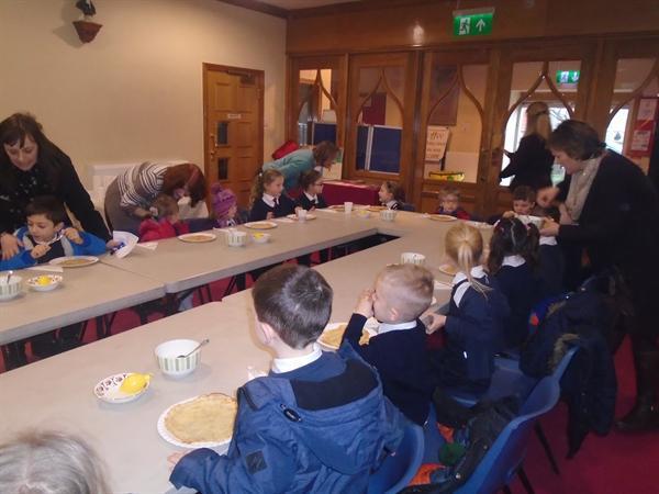 Shrove Tuesday in church