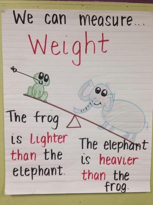The Frog is Lighter than the elephant