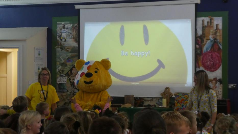 Pudsey joined in with our worship song!
