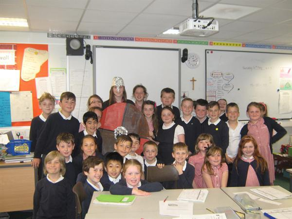 Miss Spencer dressed as an Anglo Saxon for our His
