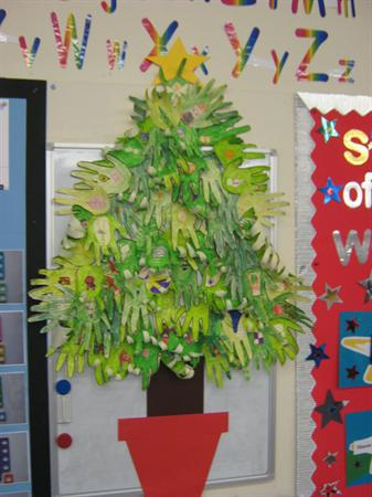 Our homemade class Christmas tree