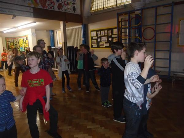 Valentine's disco with our buddies