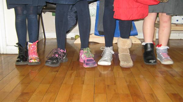 Odd shoes for Queenscourt Hospice