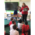 Our lovely visitor showing photographs