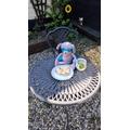 Enjoying a snack in the garden 😋