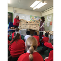 Showing the tree bark art made by tribal chiefs!