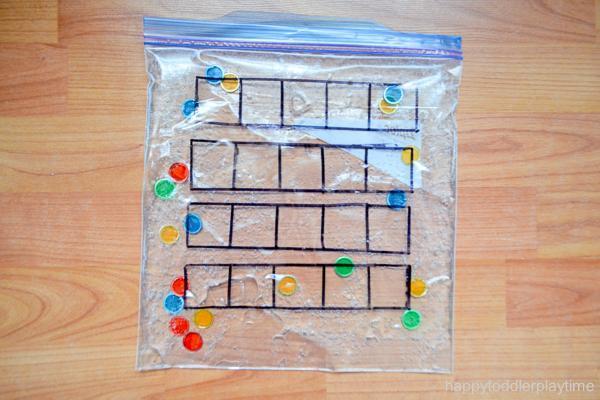 Ten Frame Sensory Bag