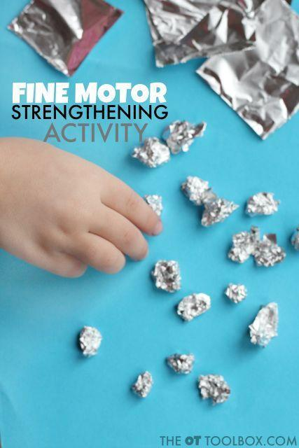 Mini tin foil snowballs!