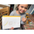 Drawing pictures of our favourite foods!