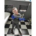 This child had fun helping his Dad demolish their bathroom ready for their new one!