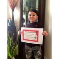 Home learning award for reaching 20 Dojo Points!