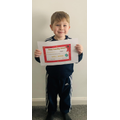 A Home Learning Award certificate has been given out for getting to 20 Dojo points!