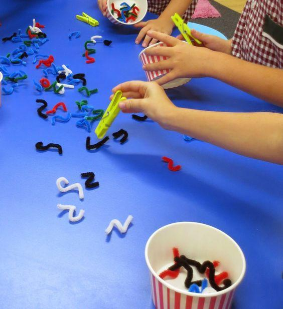 Picking up pipe cleaners