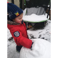 "Science Monday- exploring snow! ""It feels soft and crumbly"""