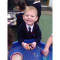 Oat sensory cupcakes to celebrate Kipper's Birthday