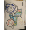 We also did some farm themed colouring during the afternoons.