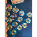 The children made their own rainbow fish using paper, CD's and plastic jewels for scales.
