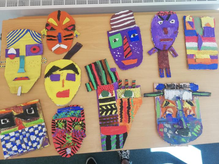 Finished Year 6 paintings
