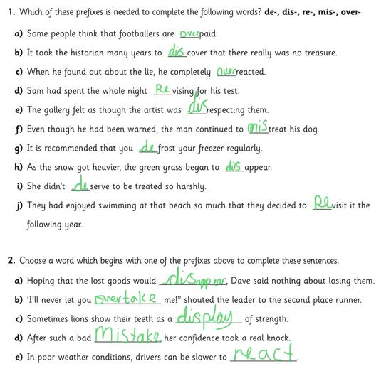 Lora's prefixes