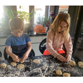 Erin was baking with her brother