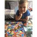 Oscar playing board games!