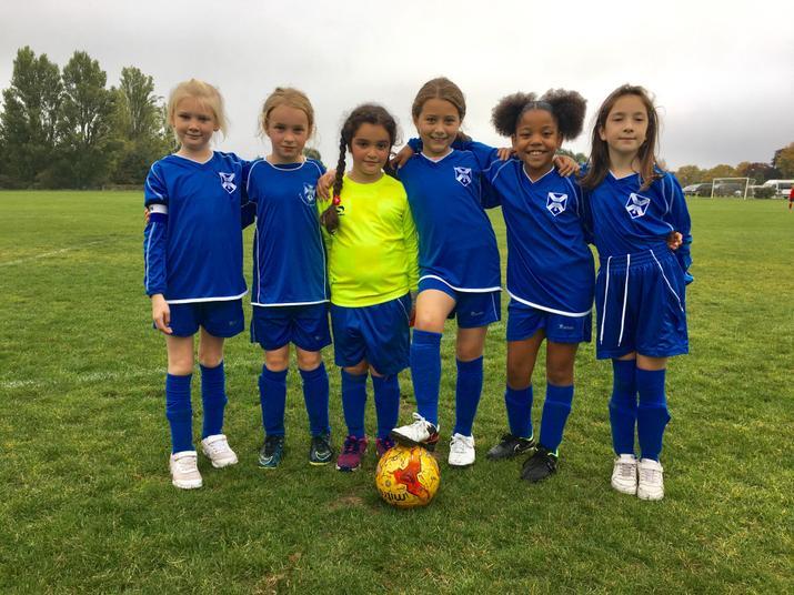 Y4 girls Football Oct 18