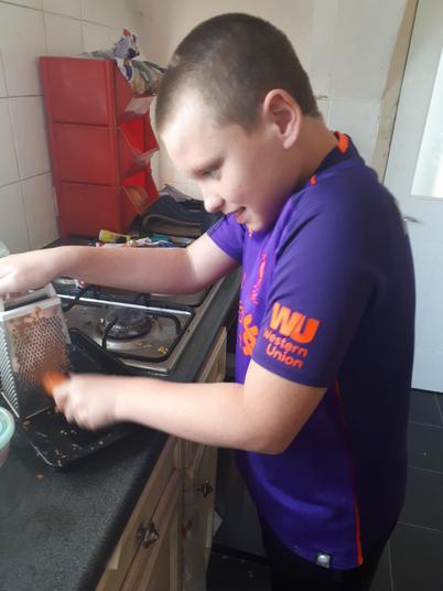 George making carrot cake.jpg