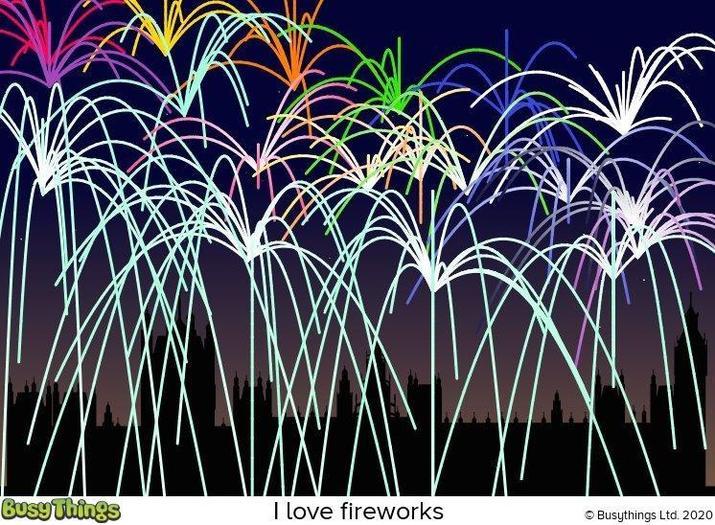 Roscoe-I love fireworks!