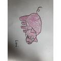 Levi's pig drawing