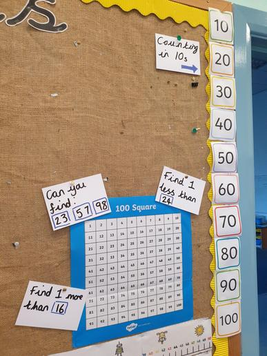 We have been learning numbers to 100 and counting in 10s