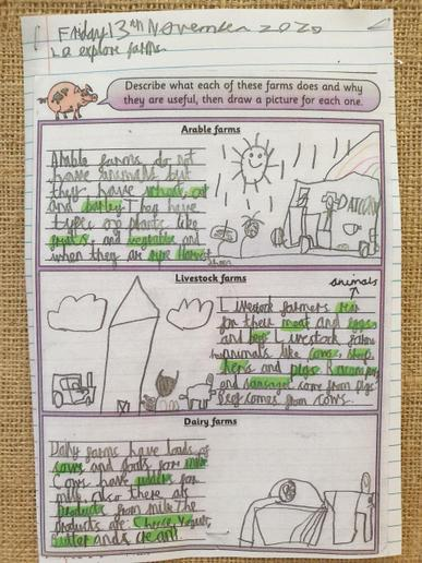 We have been learning about different types of farming.