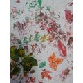 Autumn fabric printing