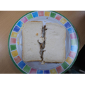 We cut the sandwich in half