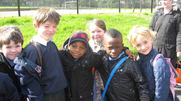 Felix' group in Ruskin Park