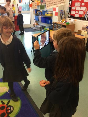 Learning to film ready for our weather reports