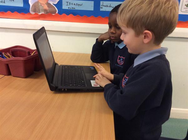 Using 'Paint' program on the laptops