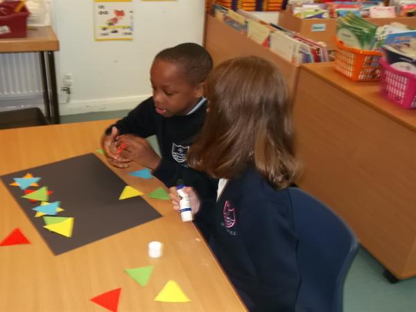 making shape patterns