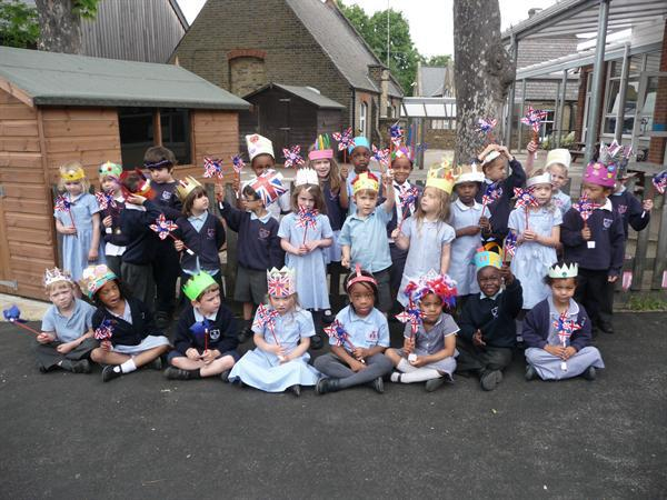 Reception Class in their crowns.