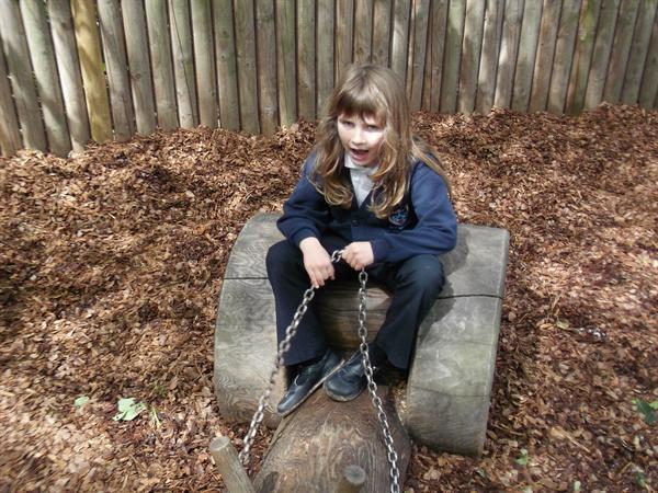 A well earned break in the playground