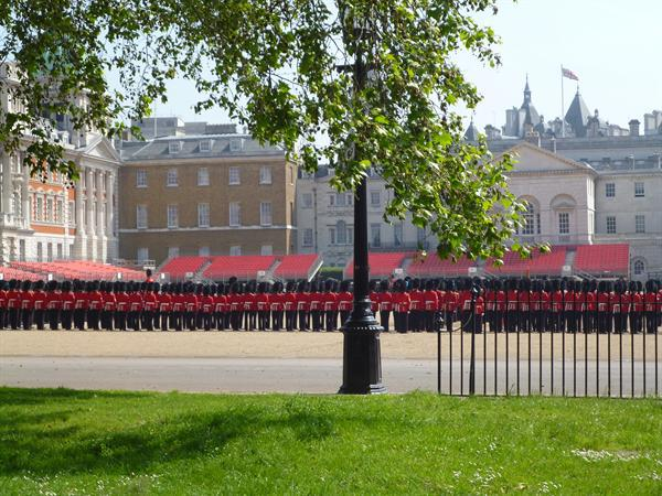 Trooping of the Colour rehearsal