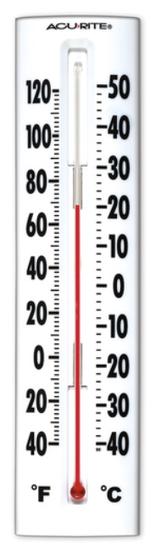 Measuring temperature.