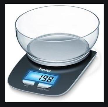 Measuring weight.