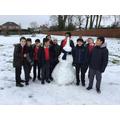 6 Beech's winning snowman!