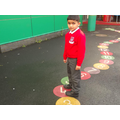 Outdoor counting - physical development